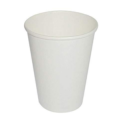 ILIP PZ 70 Bicchieri Bianchi da ML 180 COMPOSTABILI di Carta BIODEGRADABILI per Cappuccino Cioccolata Calda Caffe' Bicchiere in Cartone Termico BIO