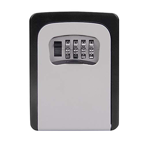 Suszian Schlüsselaufbewahrung Passwortschloss Metallbox 4-stellig Schlüssel Aufbewahrungsbox Zahlenschloß Box Wandmontage Schlossbox