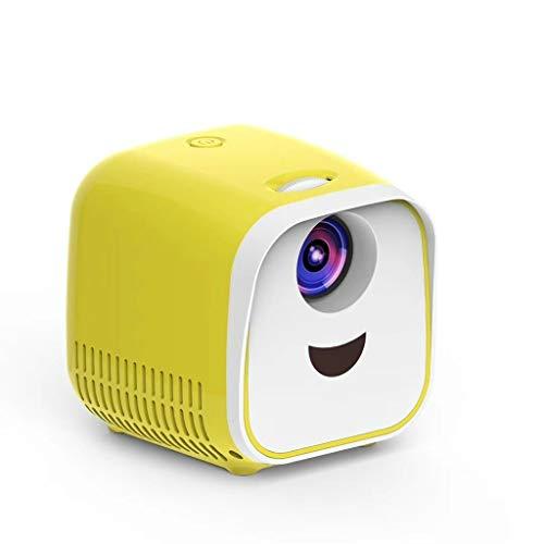 Luoshan Lin L1 Niños Proyector Mini Mini LED Altavoz portátil proyector casero Reino Unido (Negro) (Color : Yellow)