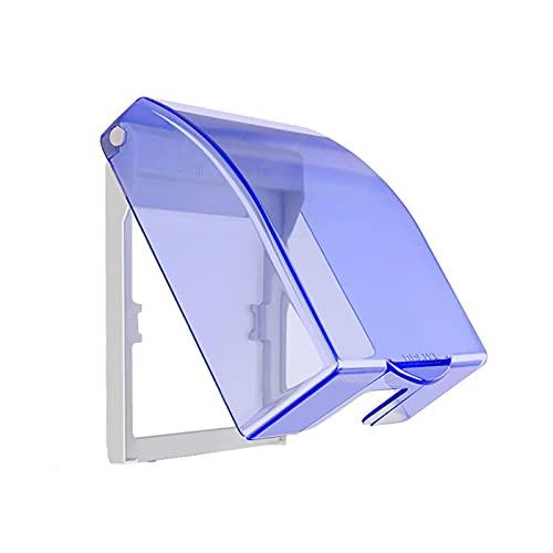 Caja de Enchufe Transparente, Interruptor de Caja Impermeable, Caja de Enchufe Impermeable, Apto para Enchufes de Baño,Evite que el Agua Salpique en el Enchufe