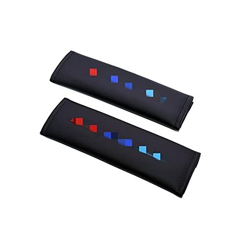 PiLiHuo Cubiertas de cinturón de Seguridad de automóviles Bordado/Ajuste para -B-M-W M2 M3 M4 M5 M6X E30 E36 E46 E90 E91 /
