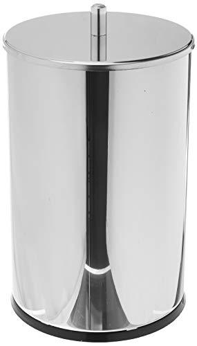 Lixeira Inox com Tampa, 7,8 Litros, Decorline Lixeiras, 18,5 x 32 cm, Aço Inox, Brinox