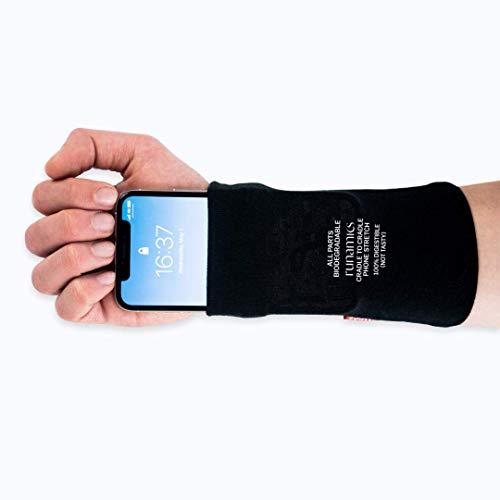 runamics | Handytasche Laufen, Joggen, Sport | aus Bio-Baumwolle | Handyhalterung, Sportarmband Handy, Smartphonetasche für den Unterarm, Handyhalter, Arm-Tasche, Handgelenktasche, Smartphone Armband (L)