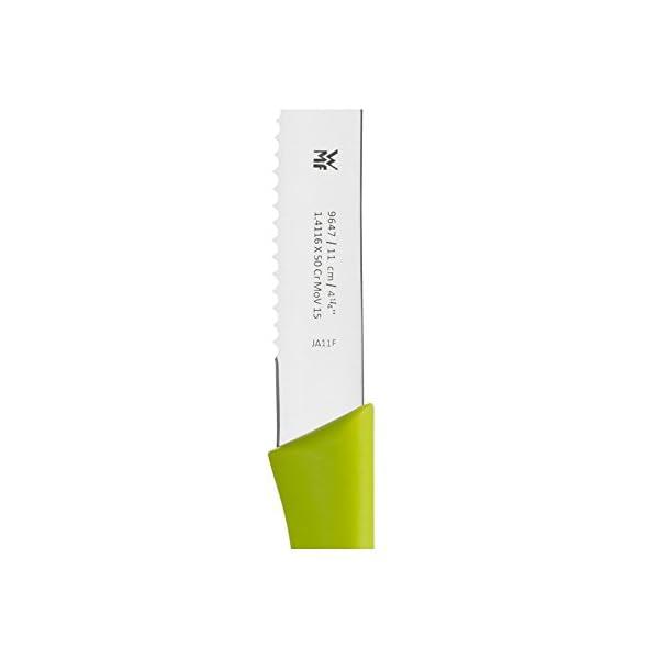 WMF Juego de 2 cuchillos de desayuno de 23 cm, cuchillo para panecillos con filo ondulado, cuchillo para pan de acero…