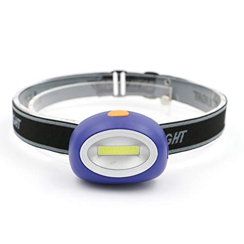 RHNE Linterna Frontal LED Linterna Frontal de inducción Linterna Frontal para Senderismo al Aire Libre Linterna Frontal COB para Acampar, Pesca, 3 Modos, Impermeable, Azul