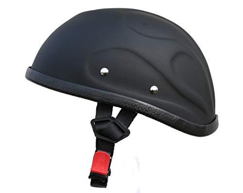 ATO Helme Chopperhelm Flame Flamme 3D BC Halbschale Schwarz Matt Größe XL 61cm
