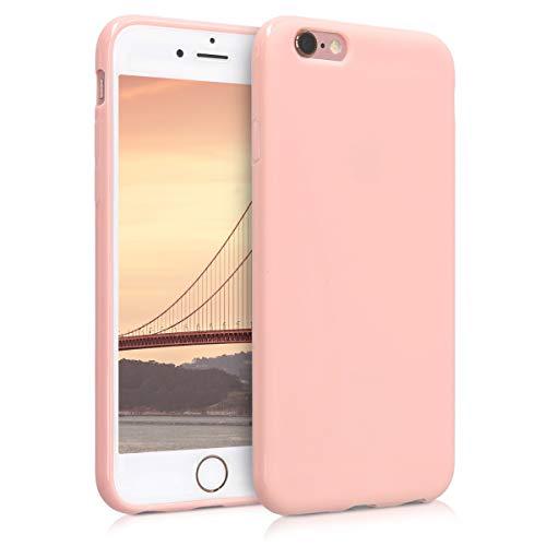 kwmobile Cover Compatibile con Apple iPhone 6 / 6S - Cover Custodia in Silicone TPU - Backcover Protezione Posteriore - Oro Rosa Matt