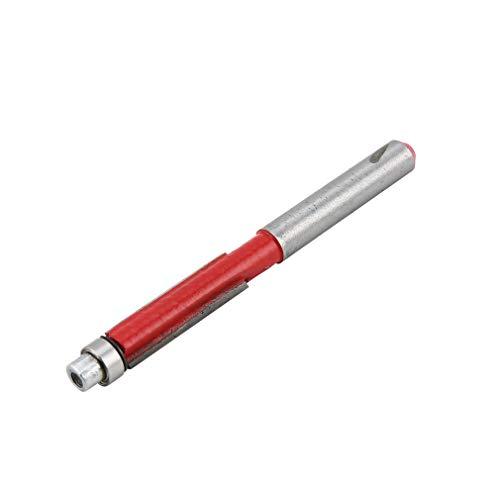 YLWL 1 4 Shank Flush Trim Router Bearing Cutter Cut Bit Tool Utensile da Taglio per Legno Rosso e Argento