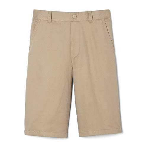 French Toast Big Boys' Pull-On Short, Khaki, 12