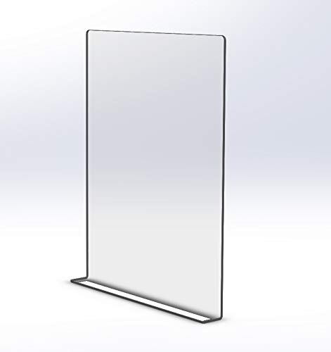 Sneeze Guard – Clear Adhesive Mount 24' x 30' Shield for Checkout Counters and Offices
