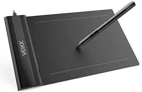 VEIKK Tableta gráfica S640 V2 con lápiz OSU de 6 x 4 pulgadas con lápiz óptico sin batería para Android, Windows y Mac OS (presión de nivel 8192)