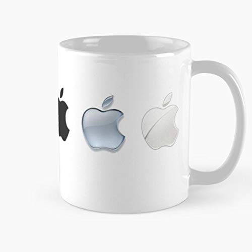 5TheWay Evolution Phone Computer Logos History Iconic Tablet Apple Taza de café con Leche 11 oz