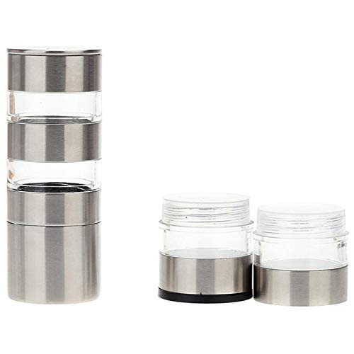 Xigeapg Stainless Steel Manual Salt And Peper Grinder, Multi-Layers Pepper Mill Shaker,Salt And Peper Mill With Adjustable Coarseness