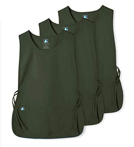 Adar Uniforms Adar Uniforms Unisex (3 Pack) Arbeitsschürze mit Taschen für Schönheit und medizinische Berufe 702 Farbe: OLV | Größe: Regular