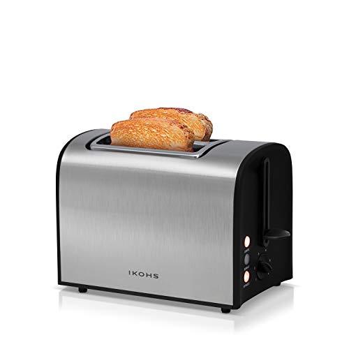 IKOHS Supreme Toast - Tostadora 2 Rebanadas, Acabado en Acer