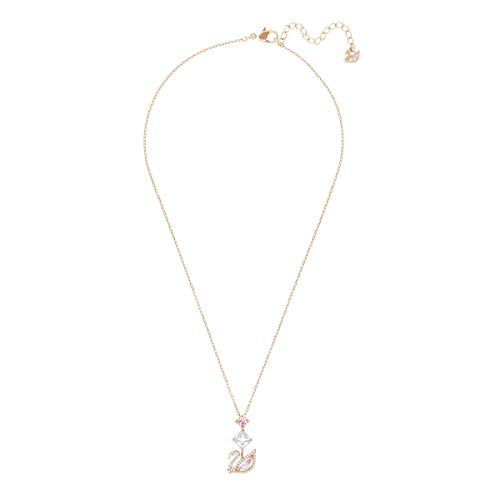 Swarovski Women's Dazzling Swan Necklace, Iconic Swarovski Swan with Crystals and Rose-gold Tone Plating, from the Swarovski Dazzling Swan Collection