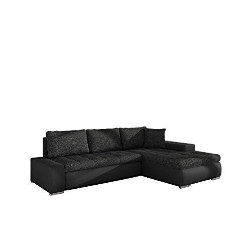 Mirjan24 Elegante Sofa Orkan Mini mit Schlaffunktion und Bettfunktion, Eckcouch Ecksofa mit Bettkasten, Couch L-Sofa Große Farbauswahl, Beste Qualität (Soft 011 + Lawa 06)