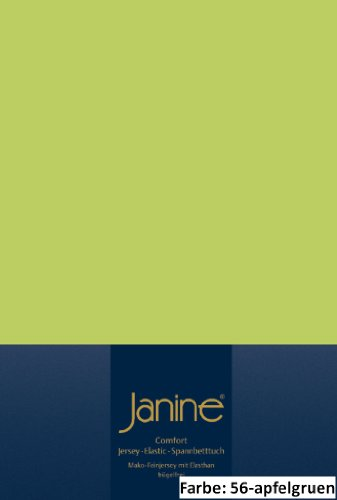 Janine Spannbettlaken 200 x 200 cm 5002 Bettlaken Elastic Apfelgrün 95 % Baumwolle, 5 % Elasthan L/B ca. 200/200 cm