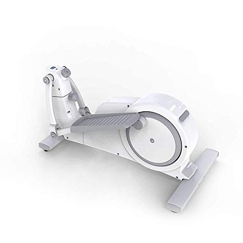 BXU-BG Máquina elíptica elíptica Máquina Mini de pasos de ejercicio físico entrenador espera en silencio hasta Formadores for Ministerio blanca máquina elíptica Trainer (Color: Blanco, Tamaño: 95.6x51