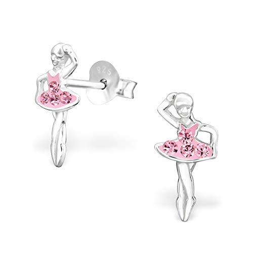 The Rose & Silver CompanyRS0268 Orecchini a perno, da donna, in argento Sterling 925, a forma di ballerina