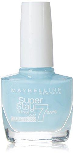 Maybelline Super Stay 7 Days Summer Bliss 874 Sea Sky 10ml Azul esmalte de uñas - esmaltes de uñas (Azul, Sea Sky, 24 mes(es), ETHYL ACETATE, BUTYL ACETATE, NITROCELLULOSE, PROPYL ACETATE, ISOPROPYL ALCOHOL, TRIBUTYL CITRATE, T, 10 ml, 20 mm)