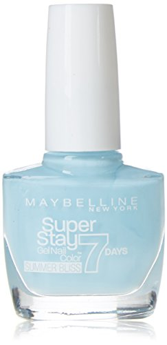Maybelline Super Stay 7 Days Summer Bliss 874 Sea Sky 10ml Azul esmalte de uñas - esmaltes de uñas (Azul, Sea Sky, 24 mes(es), ETHYL ACETATE, BUTYL ACETATE, NITROCELLULOSE, PROPYL ACETATE, ISOPROPYL ALCOHOL, TRIBUTYL CITRATE, T, 10 ml, 20 mm)