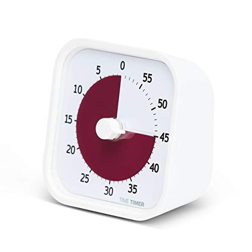 Time Timer MOD Edición Home — Timer Visual para niños y adultos de 60 Minutos Edición— para aprender en casa, herramienta de estudio, con funcionamiento silencioso (Blanco roto)