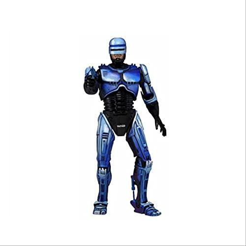 QWYU Figura de acción Robocop Vs Terminator Series 2 Robocop Figura Batalla Dañado Lanzallamas Figura de acción Modelo Juguete B Caja