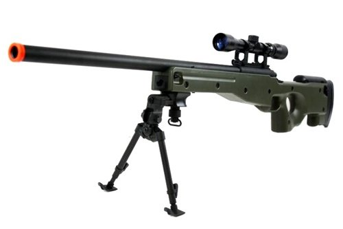 BBTac BT-96 Bolt Action Sniper Rifle w/ 3-9x Scope and Bipod - OD...