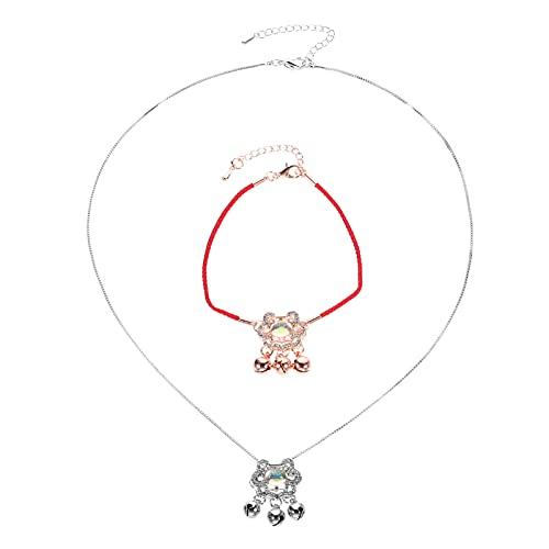 VALICLUD Pulsera de Feng Shui Chino Collar de Buena Suerte Bendición Fortuna Pulsera de Cordón Rojo para Niños Mujeres Riqueza