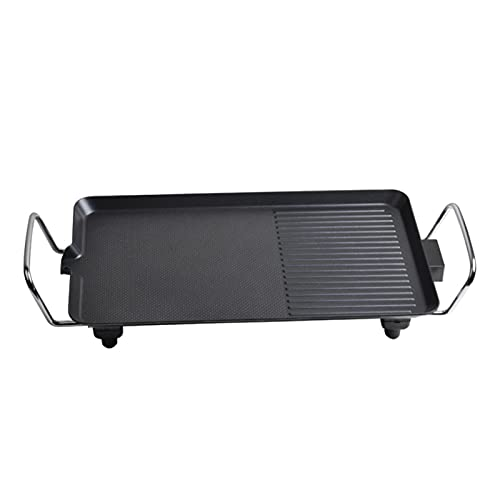 WSY Elektrische Kochplatte Haushalt 3-5 Personen Rauchlose Nichtstick Grill Pan Outdoor BBQ