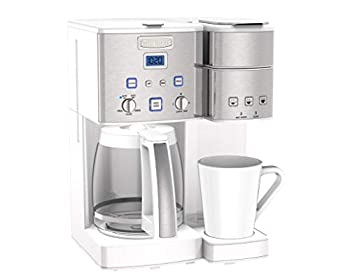 white cuisinart coffee maker