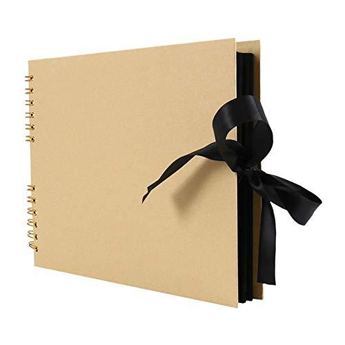QXJTX 80 Seiten Fotoalbum Einkleb DIY Fertigkeit Album Scrapbooking-Bilder-Album for Hochzeitstag-Geschenke Memory Books (Color : Yellow)