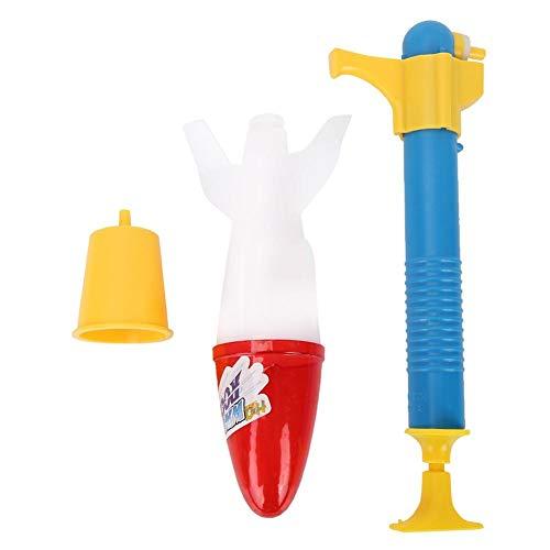 Water Rocket Toy - Niños Water Rocket Toy para Verano Piscina al Aire Libre Niños(Azul y Amarillo)