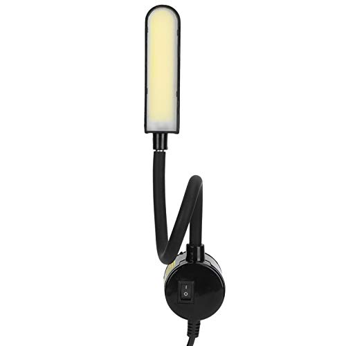 Luz para máquina de coser, COB 6W 30 LED Interruptor de base magnética de luz con revestimiento flexible cuello de cisne para prensas de taladro ligeras Escritorios Atriles de música Bancos de trabajo