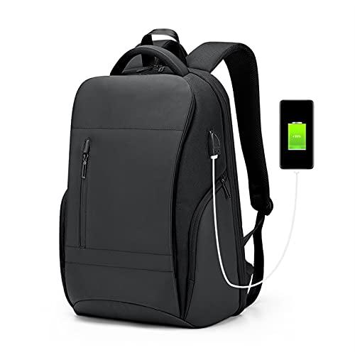 Zaino per Laptop Zaini Resistenti All'acqua da 17 Pollici Durevole Zaino da Viaggio per College con Porta di Ricarica USB Regalo (Color : Black, Size : 12.5x9x18.5inch)