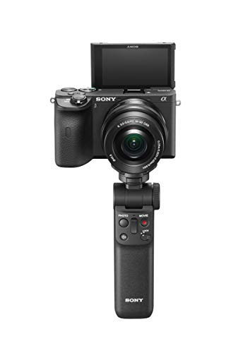 Sony GP-VPT2BT Bluetooth Handgriff (für Selfies und Vlogging, auch als Tripod nutzbar, kompatibel mit A9M2, A9, A7RM4, A7RM3, A7M3, A6600, A6400, A6100, RX100M7, RX0M2, ZV-1) schwarz