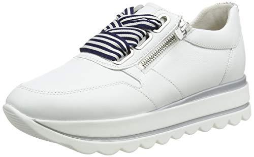 Gabor Shoes Damen Jollys Sneaker, Weiß (Weiss/Marine Kombi 21), 40 EU
