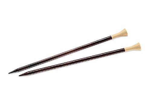 "Lantern Moon 14"" Ebony Straight Knitting Needles Single Point Size 19"