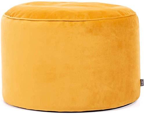icon Milano Round Velvet Bean Bag Pouffe, Large Velvet Ottoman, Living Room Bedroom Footstool Bean Bags