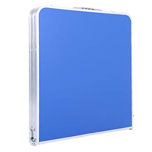 Multifunktionstisch Tragbar Esstisch Im Freien Training Table Faltbarer Höhenverstellbar for Outdoor-Picknick/Camping/Partei/Grill Mobiler Laptop Schreibtischständer (Color : Blue)