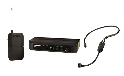 Shure BLX14/P31 Wireless Microphone System with BLX4 Receiver, BLX1 Bodypack Transmitter and PGA31 Headset Condenser Mic for Hands-Free Audio, Perfect for Multi-Instrumentalists and Active Performers