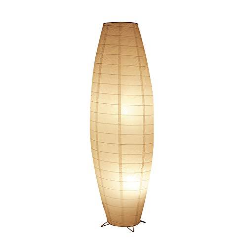 LXHLDD Lámpara De Pie LED Tranquility para Salas De Estar, Lámpara De Esquina Minimalista Moderna De Mediados De Siglo, Pantalla De Papel De Arroz, Boca De Tornillo E14