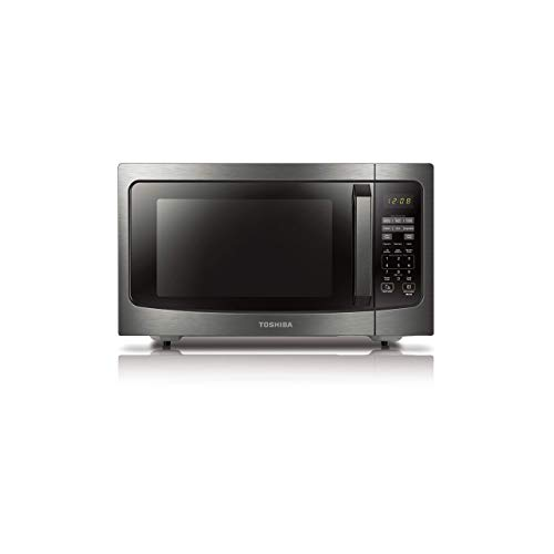 Toshiba ML-EM45P(BS) Countertop Microwave oven with Smart Sensor, Sound on/off Function and Position Memory Turntable, 1.6 Cu.ft, Black Stainless Steel (Renewed)