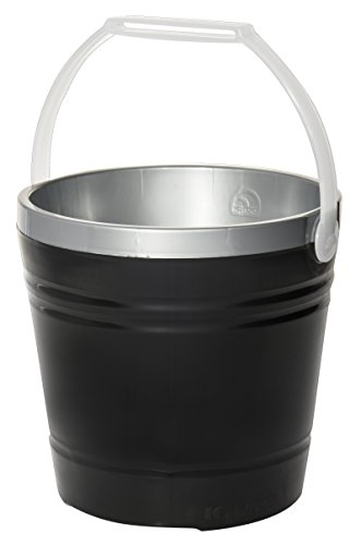 Igloo Insulated Party Pail, Black/Silver, 10 Quart