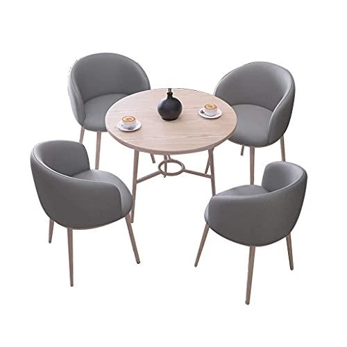 FFAN Sedia combinata Sedie da Pranzo da Cucina, tavoli e sedie da negoziare Combinazione di Vendita per Ufficio Reception Tavolino Rotondo Sedia angolare in Pelle Good Life