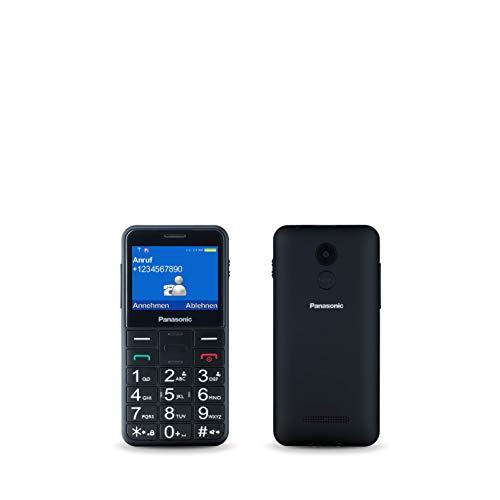 Panasonic KX-TU150EXB Seniorenhandy (SOS Taste, Dual-SIM, Kamera 0,3 MP, Radio, Taschenlampenfunktion, große Tasten) schwarz