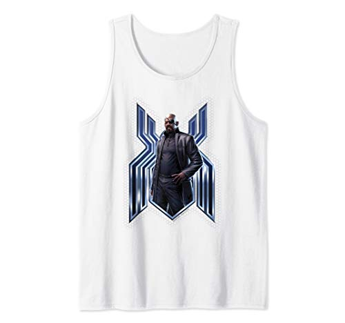 Marvel Spider-Man Far From Home Nick Fury Spider-Man Logo Tank Top