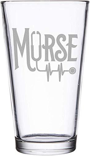 BAD BANANAS Male Nurse Gift - Murse 16 oz Pint Beer Glass - Funny Nurse Gift Ideas For Men