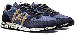 PREMIATA Herren Schuhe Sneakers Eric 5374 Nylon Leder Blau